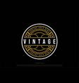 vintage retro badge emblem label sticker stamp vector image vector image