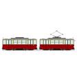vintage tram vector image vector image