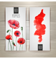 Watercolor red poppies vector image vector image