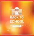 welcome back to school colorful logo vector image vector image