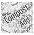 What not to Compost Word Cloud Concept vector image vector image