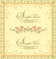 ornate frame with floral elements vector image
