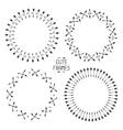 Set of arrows frames Hand drawn doodles Sketch vector image