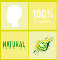 100 percent organic vector image vector image