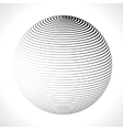 Abstract 3D Sphere with Stripes lines vector image vector image