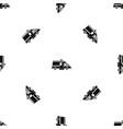 ambulance pattern seamless black vector image vector image