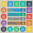 Avatar icon sign Set of twenty colored flat round vector image vector image