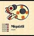 Aztec symbol Miquiztli vector image vector image