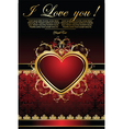 background for Valentine's card vector image vector image