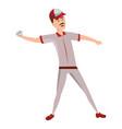 baseball player cartoon vector image vector image
