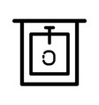 bidet icon in outline style icon style isolated vector image