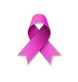 breast cancer pink ribbon on white vector image