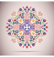 card Round oriental pattern on vintage vector image vector image