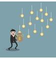Cartoon businessman earning money vector image