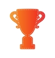 Champions Cup sign Orange applique isolated vector image vector image
