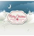 Christmas card with winter landscape vector image