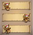 Christmas Elks Papyrus vector image