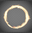 circus ring or hoop on fire vector image vector image