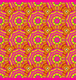 colorful colored tile mandala on a yellow magenta vector image