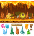 colorful isometric game treasure cave concept vector image vector image