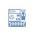 computer software line icon concept computer vector image vector image