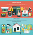 control system safe home banners vector image vector image