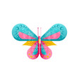 creative of bright butterfly with vector image vector image