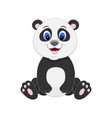 Cute cartoon panda isolated