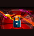 cyber security padlock vector image vector image