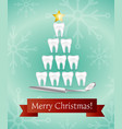 dental christmas tree vector image