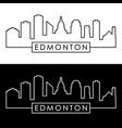 edmonton skyline linear style editable file vector image vector image