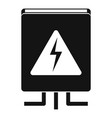 electrical box icon simple style vector image