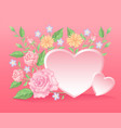 floral colorful and beautiful rose flowers and lea vector image vector image