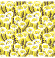 Floral seamless pattern with doodle dandelions vector image vector image