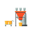 flour grinding industrial equipment stage of vector image