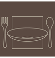 ForkSpoonPlate vector image vector image