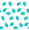 fresh mint leaves patternseamless repeating vector image