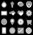 General icons on back background vector image vector image