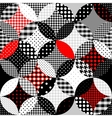 Geometric patchwork in the retro style vector image vector image