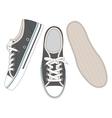 Grey sneakers vector image