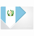 guatemalan flag design background vector image vector image