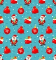 happy new year seamless pattern with santa and vector image vector image