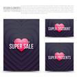 Happy Valentines Day design elements vector image