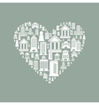 Heart the house2 vector image vector image