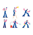 home repair and professional cleaning service set vector image vector image
