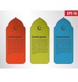 islamic banner vector image