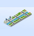 isometric a city vector image
