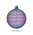 Light blue Knitted Christmas Ball vector image vector image