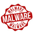 malware grunge rubber stamp vector image vector image