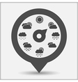 Map Marker with Weather Indicator vector image vector image